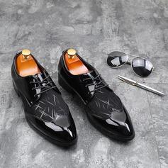 Men's Leatherette Lace-up Dress Shoes Men's Oxfords