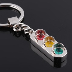 Cute Traffic Light Design Zinc alloy Keychains