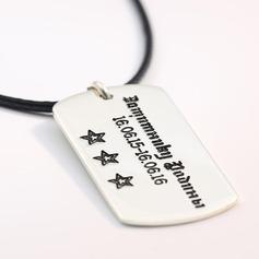 Personalizado Pareja ' Caliente 925 plata de ley Collares grabados Collares Amigos/La dama de honor/Niña de las flores (011206605)