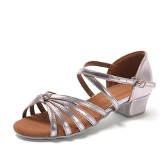 Women's Leatherette Sandals Latin With Buckle Hollow-out Dance Shoes