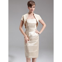 Short Sleeve Charmeuse Special Occasion Wrap