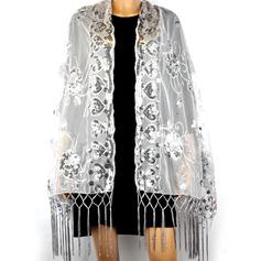 Tyll Paljetterad Mode Sjal