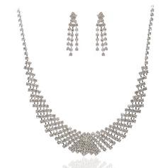 Elegant Legering med Kristall Damer' Smycken Sets