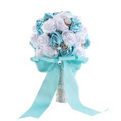 Round Silk Bridal Bouquets/Bridesmaid Bouquets (Sold in a single piece) -
