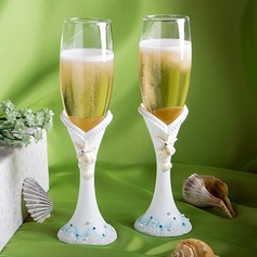 Beach Theme Toasting Flutes