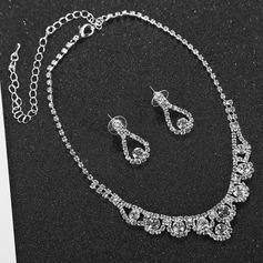 Charme Strass/Cobre com Strass Senhoras Conjuntos de jóias