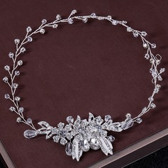 Ladies Glamourous Rhinestone/Alloy Headbands With Rhinestone (Sold in single piece)