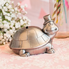 13cm*11cm*10cm Lovely Tortoise Design Tin Alloy Money Box