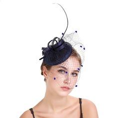 Dames Exquis Batiste/Feather avec Feather Chapeaux de type fascinator