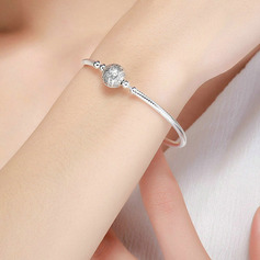 Platinum Plated Delicate Chain Bangles & Cuffs Chain Bracelets - Valentines Gifts For Her
