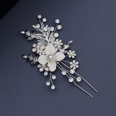 Vakkert Rhinestone/Imitert Perle Kammer og Barrettes med Venetianske Perle (Selges i ett stykke)