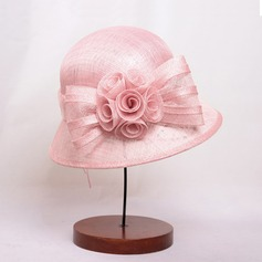 Señoras' Glamorosa/Estilo clásico/Elegante poliéster con Flor Bombín / cloché Sombrero