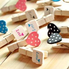 Diseño del amor Madera Clip/Accesorios decorativos (juego de 12)