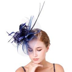 Dames Élégante Feather/Fil net avec Feather Chapeaux de type fascinator/Kentucky Derby Des Chapeaux/Chapeaux Tea Party