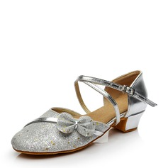 Kids' Sparkling Glitter Flats Ballroom Dance Shoes