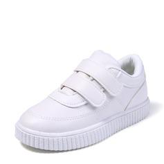 Könsneutrala Stängt Toe Loafers & Slip-Ons konstläder platt Heel Sneakers & Athletic med Kardborre