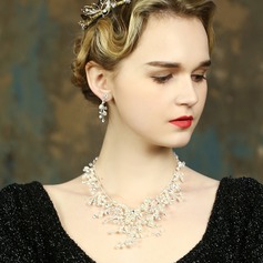 Exquisito Perla/Diamantes de imitación Señoras' Sistemas de la joyería