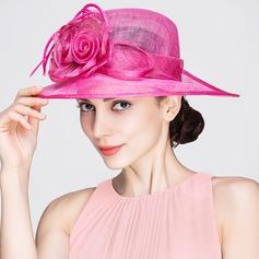 Senhoras Bonito Primavera/Verão Cambraia com Chapéu de Coco / Cloche de Chapéu