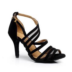 Femmes Suède Talons Sandales Escarpins Latin Chaussures de danse (053063328)