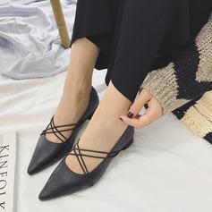De mujer PU Tacón ancho Salón Cerrados con Cordones zapatos