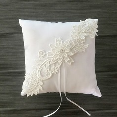 Square Ring Pillow in Satin/Lace With Ribbons/Flowers (103096218)