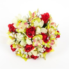Romantic Round Artificial Silk Bridal Bouquets -