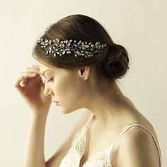 Elegant Legering/Glas Pannband (Säljs i ett enda stycke)