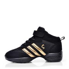Donna Camoscio Mesh Sneakers Scarpe da Ginnastica con Allacciato Scarpe da ballo