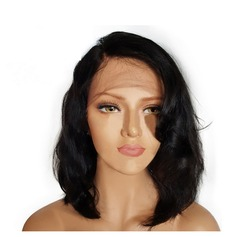 4A non remy Ondulé Cheveux humains Perruques avant en dentelle (Vendu dans une seule pièce) 120g (219145636)