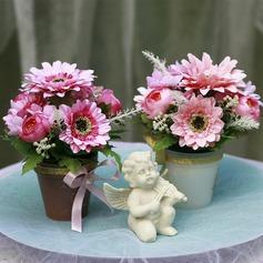 Charme Seda artificiais Decorações/Flores da Tabela do Casamento