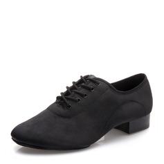 Мужская Холст Латино Современный Практика Обувь для танцев