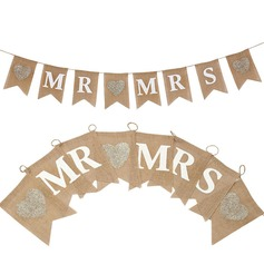 """Mr. & Mrs."" Hemp Rope/Sengetøy Banner"