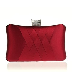 Elegant Satin Clutches/Wristlets/Satchel/Bridal Purse/Fashion Handbags/Makeup Bags/Luxury Clutches (012141825)