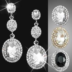 Vintage Alloy/Rhinestones Ladies' Earrings