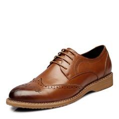Men's Microfiber Leather Lace-up Brogue Dress Shoes Men's Oxfords