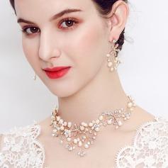 Elegant Rhinsten/Imiteret Pearl Ladies ' Smykke Sæt