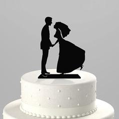 Figurine Jeune mariée et Marié Acrylique Mariage Décoration pour gâteaux