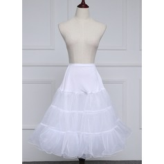 Women Polyester Knee-length 2 Tiers Petticoats (037182544)