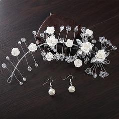 Элегантные шелковые цветы ободки (Набор из 2)