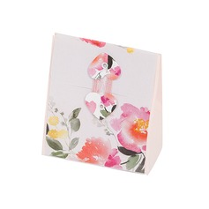 Flower Design Cuboid Favor Boxes (Set of 12)