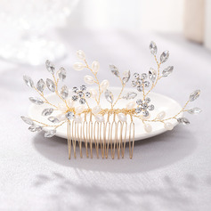 Ladies Charming Rhinestone/Alloy/Pearls Combs & Barrettes (Sold in single piece)