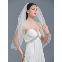 One-tier Elbow Bridal Veils With Beading (006115471)
