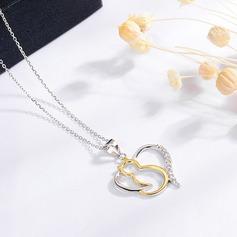 Shining Zircon Silver With Zircon Ladies' Fashion Necklace (Sold in a single piece)