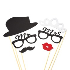 """""""Mr. & Mrs."""" Papel cartão Foto cabine adereços (6 peças)"""