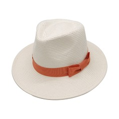 Couples' Hottest Linen/Salty Straw With Bowknot Straw Hats/Panama Hats/Kentucky Derby Hats