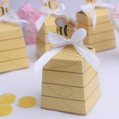 Cuboid Favor Boxes With Ribbons (Set of 12)