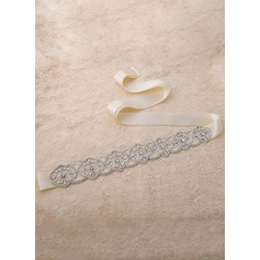 Elegant Satin Sash With Rhinestones (015118643)
