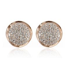Exquis Alliage/Cristal Dames Boucles d'oreilles