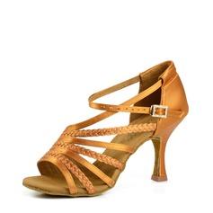 Vrouwen Satijn Hakken Sandalen Latijn modern Ballroom Salsa Tango Dansschoenen