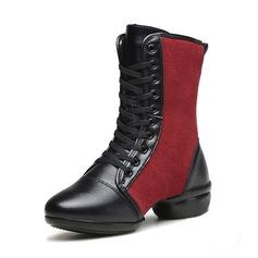 Vrouwen Kunstleer Suede Dans Sneakers Dance Boots Dansschoenen